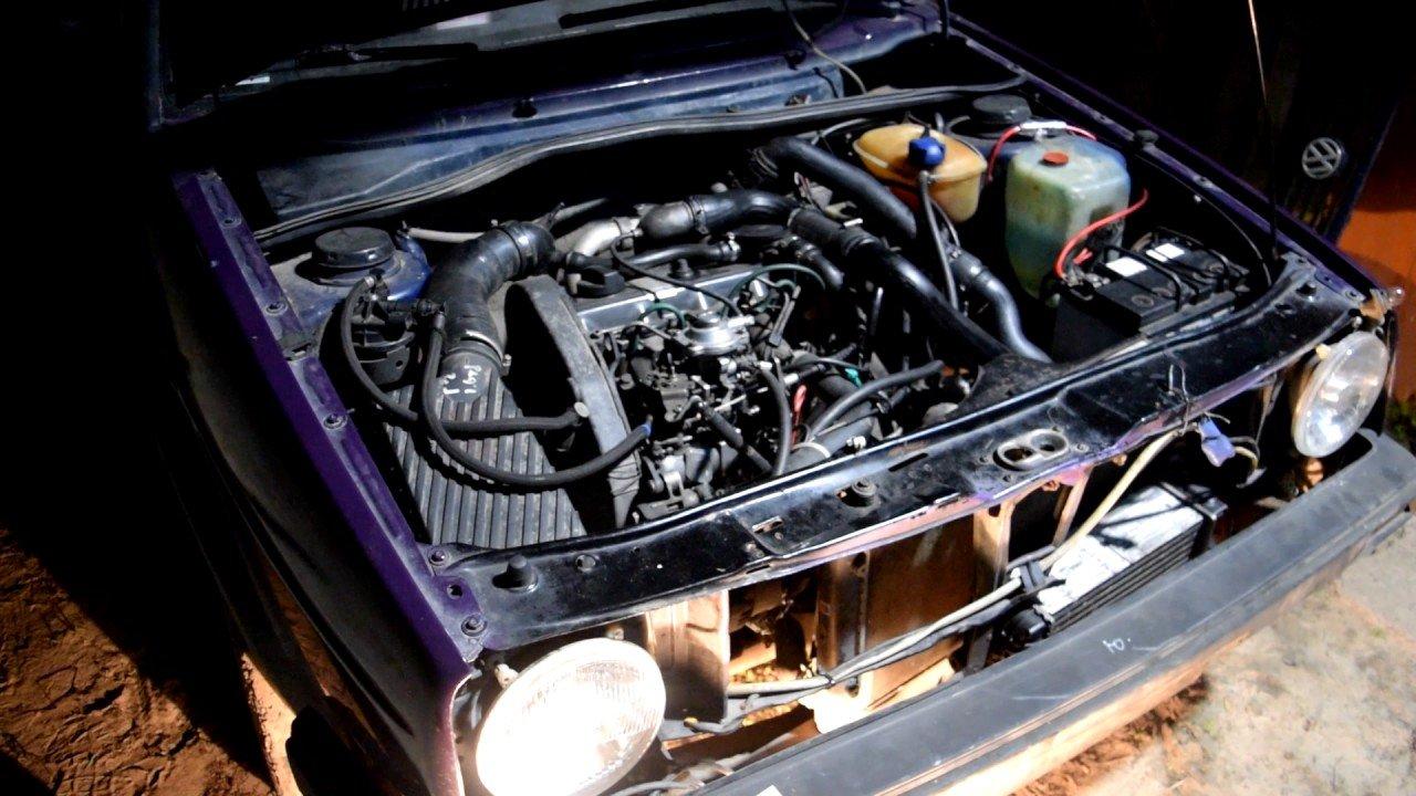 Гольф 2 (Golf 2).Двигатель 1Z (90 л.с.) TDI. Механический ТНВД Peugeot . Установка интеркулера.